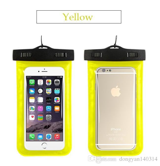Su geçirmez Kılıf Evrensel Dayanıklı Sualtı Kuru Çanta için Armband Askı ile Apple iPhone 7,6 S, 6 S Artı, 5 S, Samsung S7 S6 kenar