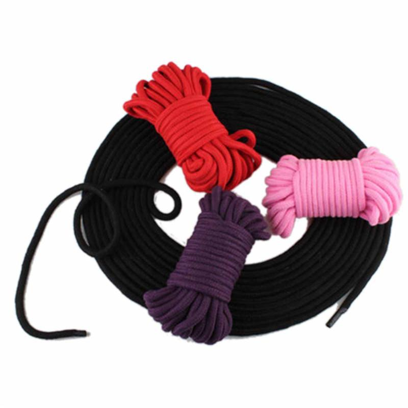 10M Adult BDSM Sex Toys Rope Provocative Alternative Supplies Cotton Tied Rope Fetish Sex Restraint Bondage black pink red purple 3105004
