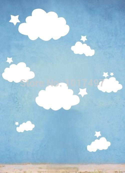 Wholesale- Nursery Wall Stickers - Star & Cloud Wall Decals,Baby ...