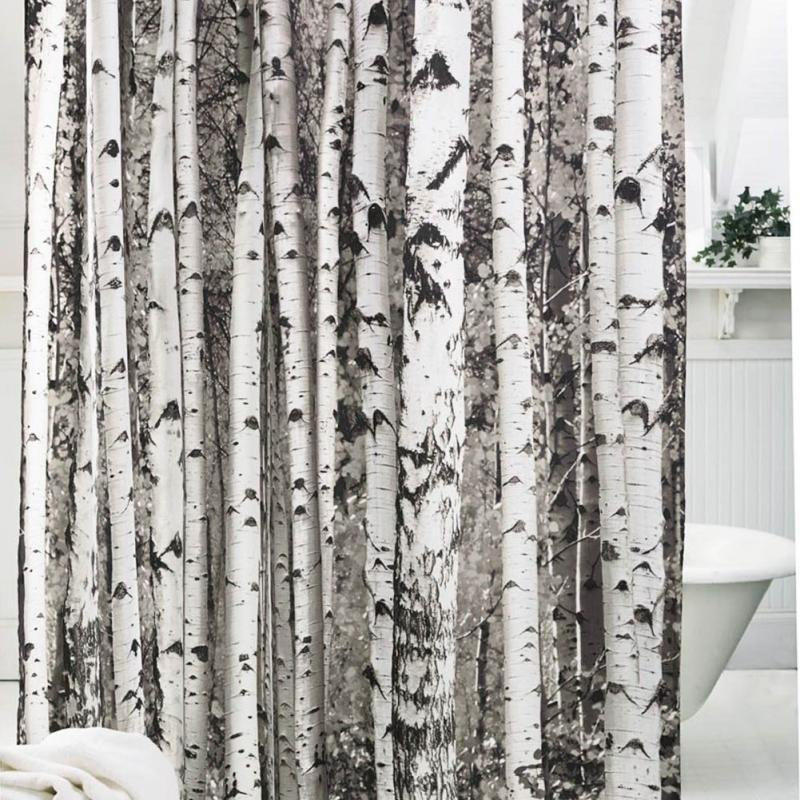 2018 Wholesale Tree Pattern Shower Curtain Polyester Soft Bath Brown Endure Dirty Easy To Wash Fashion From Linita 3888