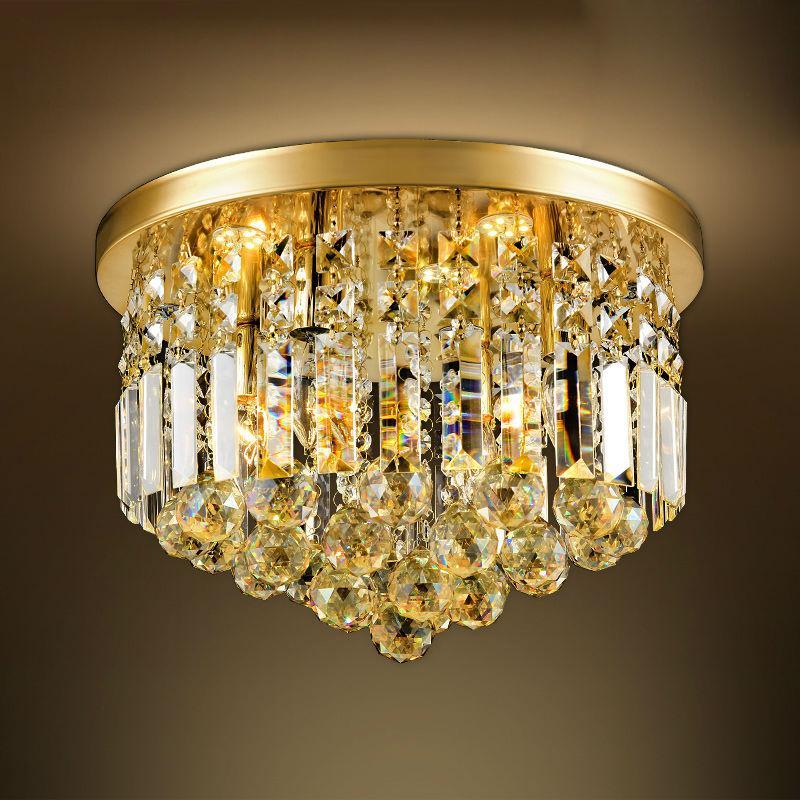 Großhandel Led Kristall Deckenleuchte Fixture Für Wohnzimmer Moderne  Deckenleuchte Gold Deckenleuchte Beleuchtung Lampe Luminaria Dekoration Von  ...