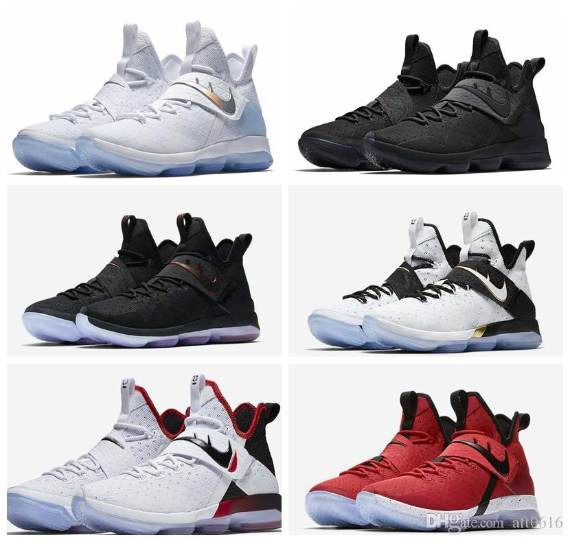 Top Quality James Shoes LBJ 14 Triple Black BHM Flip the Switch Red Carpet  Out Of 369891457dd5