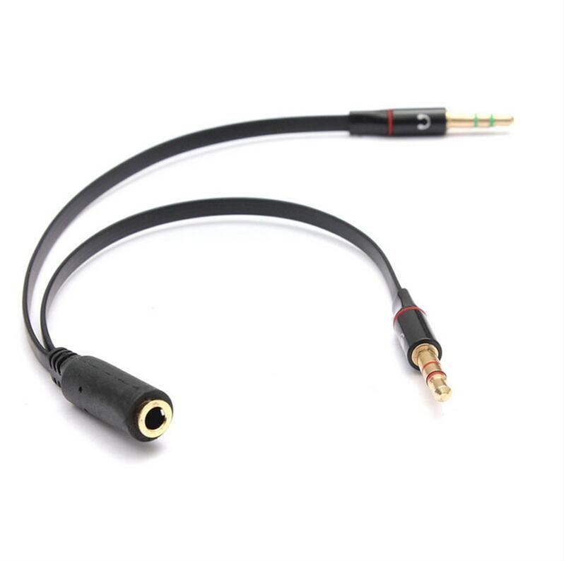 Cavo audio da 3,5 mm Mini Jack 1 femmina a 2 maschi cuffia + microfono di alta qualità
