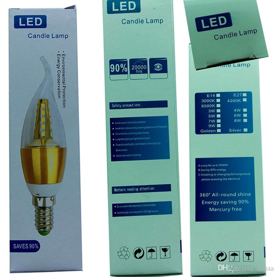 lâmpada de vela, lustres de decorações e quaisquer outras luzes, sanan chips placa de alumínio cor de ouro 9w branco quente