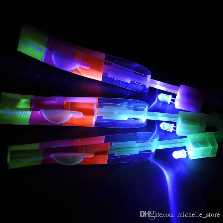 HOTTEST DHL Special Sale! Newest Toy LED Amazing Arrow Helicopter Flying Umbrella LED Flyer LED Arrow Helicopter