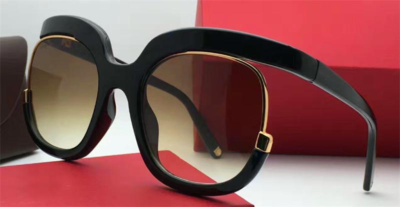 Popüler yeni güneş gözlüğü 863 kadın tasarım büyük gözlük özel olarak tasarlanmış yuvarlak çerçeve yüksek popülerlik asil ve zarif tarzı en kaliteli