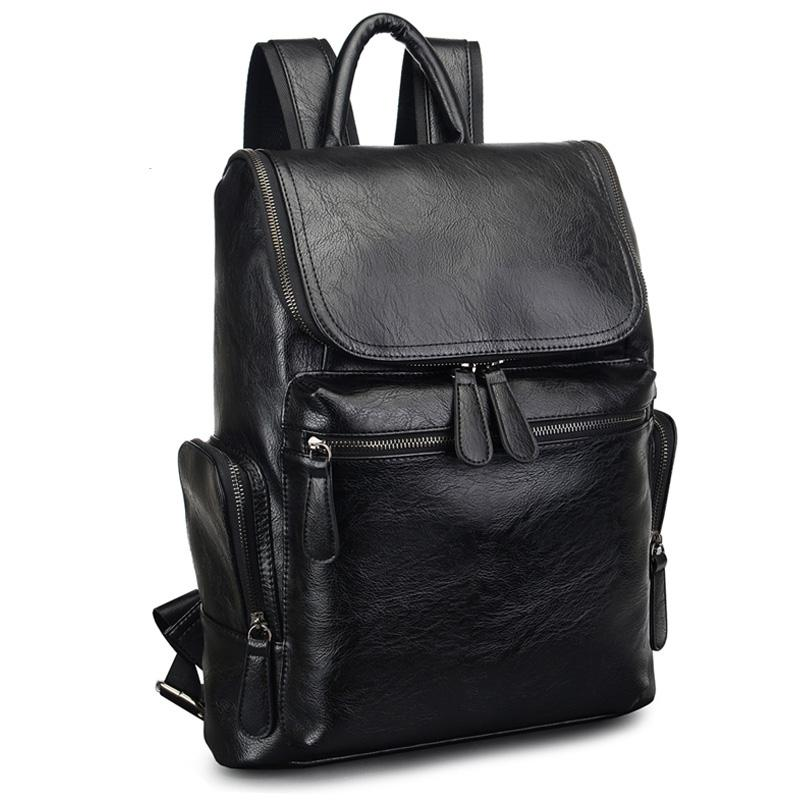 2017 Brand Designer Men Leather Backpack Men S School Backpack Bag Bagpack  Mochila Feminina Black Brown Travel Bag Shoulder Bag Dakine Backpacks Back  Pack … a37cba9ec6