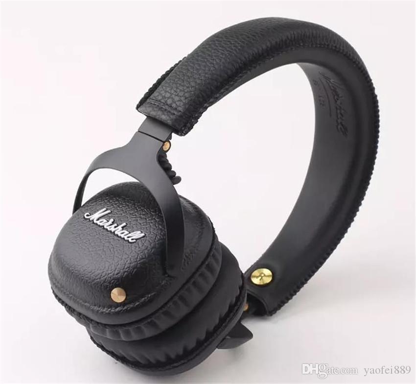 2017 NEW MARSHALL MID Bluetooth Wireless On-Ear Stereo Headphones BLACK With Mic Rock Deep Bass HiFi Headset Professional DJ Headphone