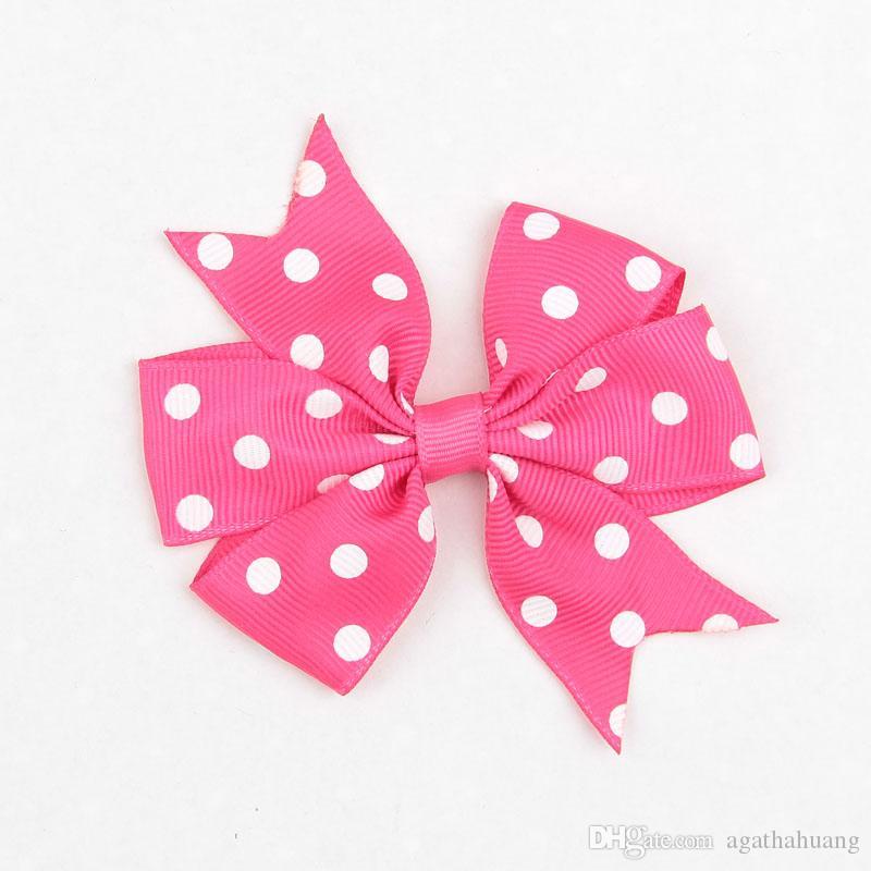 Schöne Polka Dots Hairclips für Mädchen Haarschmuck Mode Haarbögen Haarnadeln Baby Beliebte Bowknots Kinder Haarspangen Haarspangen