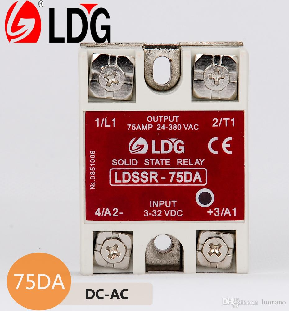 2018 Ldg Single Phase Solid State Relay Ldssr 75da Input 3 32vdc There Are Dc Relays And Ac Output 24 280vac To Zero Crossing Ssr Module From Luonano 915