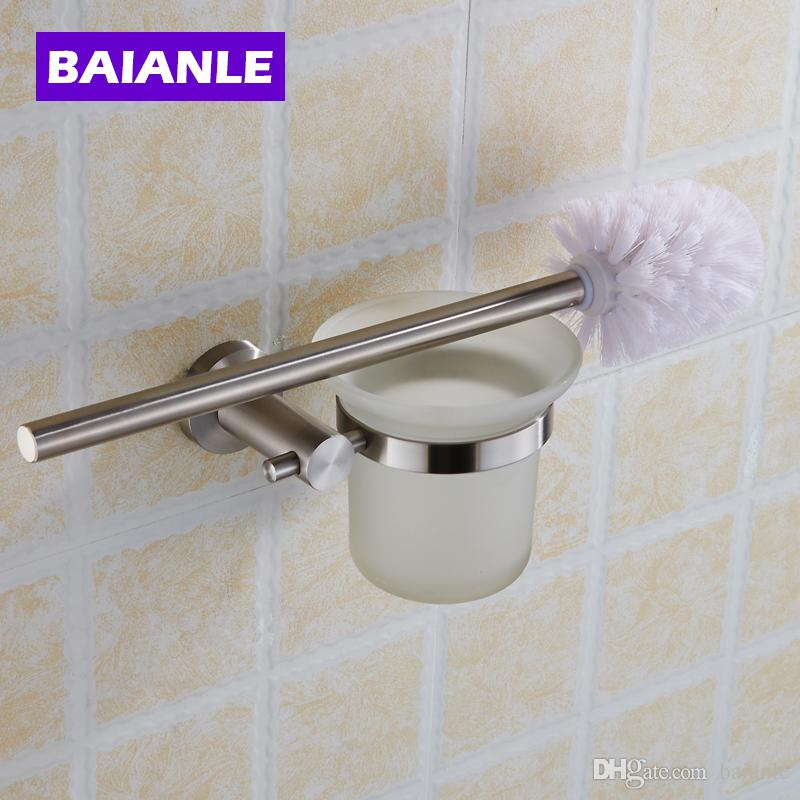 frosted glass bathroom accessories. 2018 Hot Sell Stainless Steel Toilet Brush Holder With Frosted Glass Cup, Bathroom Accessories From Baianle, $61.08   Dhgate.Com
