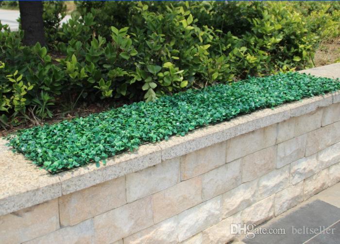 25CM*25CM Artificial Grass plastic boxwood mat topiary tree Milan Grass for garden home wedding decoration Artificial Plants
