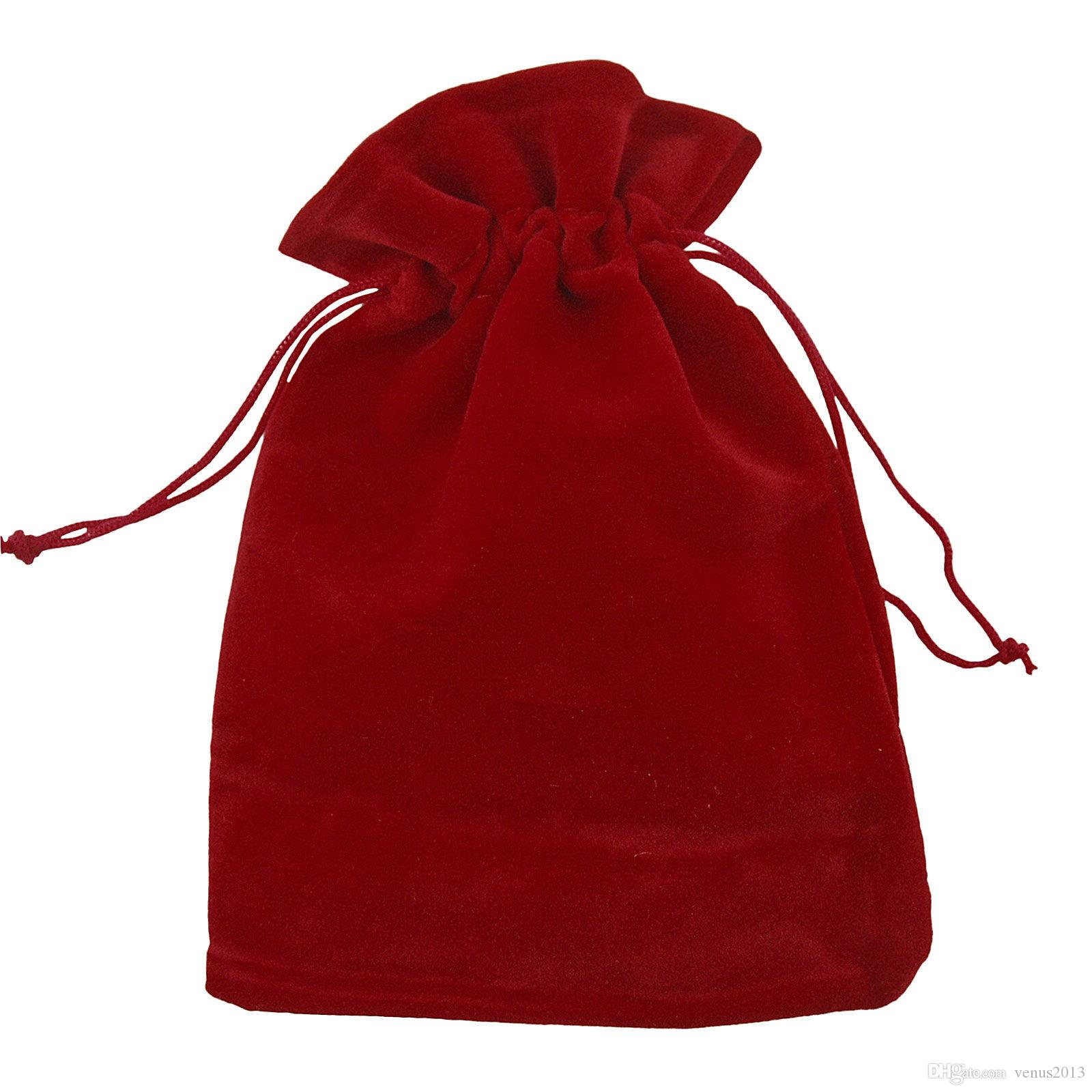 100шт смешанные роскошные бархатные ювелирные изделия шнурок свадьба пользу сумки подарочные пакеты