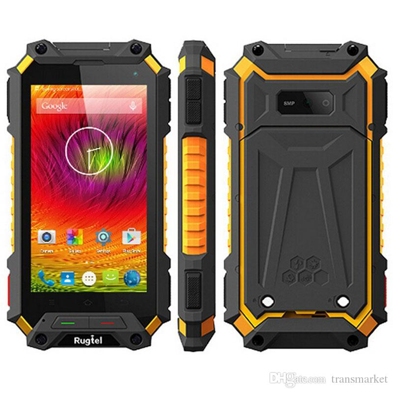 finest selection 24d55 6d25f 5000 Battery 4.5 Inch Gorilla GlassScreen Rugtel quad core 2GB x10 IP68  Waterproof mobile phone SOS Android 5.1 Lollipop 4G LTE smartphone