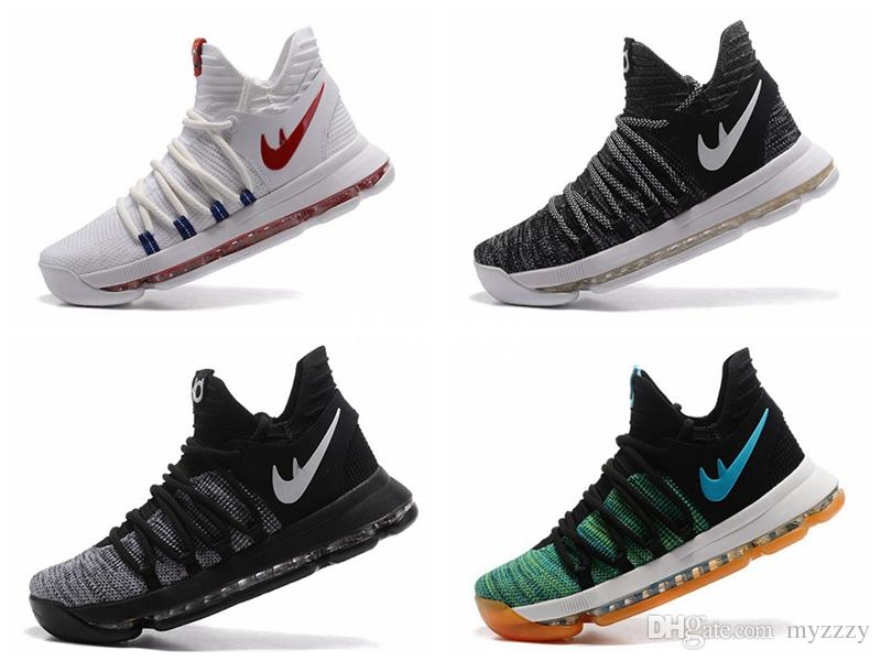 Kevin Durant 10 Basketball Shoes 2017 For Sale Kevin Durant Shoe Kd 10 Shoes  Oreo Kds Anniversary Heaven Bird Mens Sport Sneakers Shoes Basketball Shoes  For ...