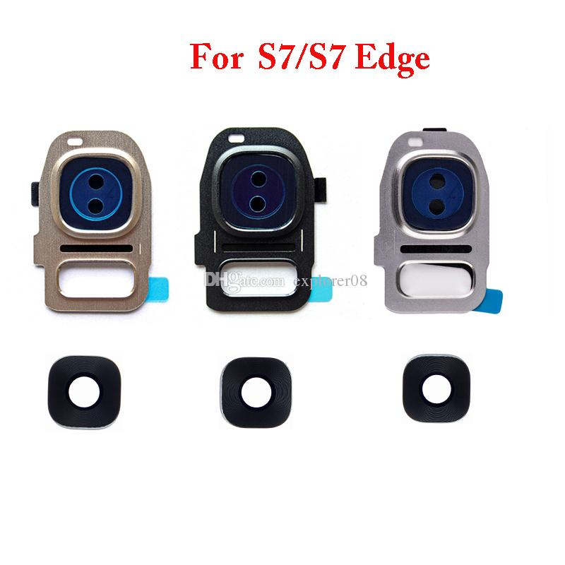 Rear Back Camera Frame Cover With Glass Lens Flash Diffuser For Samsung Galaxy S7 S6 Edge Plus G930 G935 G920 G925 G928