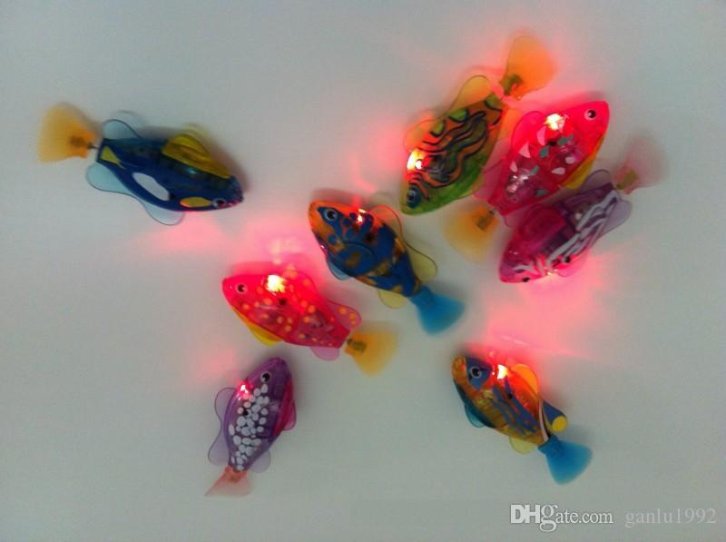 Luz LED Luminescence Emulational Fish Machine Mutsu Water Looper Swim Tome una ducha Natación Juguetes Nuevo 4 3xx G1