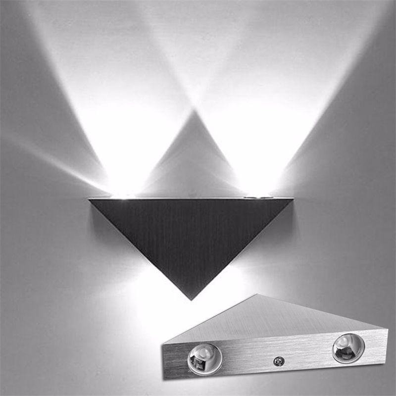 Acheter Led Mur Lampe 90 260 V 3 W En Aluminium Corps Triangle