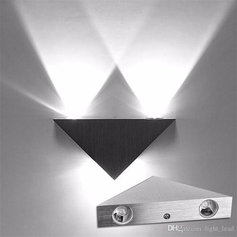 LED Wandleuchte 90-260 V 3 Watt Aluminium Körper Dreieck Wandleuchte Für  Schlafzimmer Hause Beleuchtung Leuchte Badezimmer Leuchte Wandleuchte