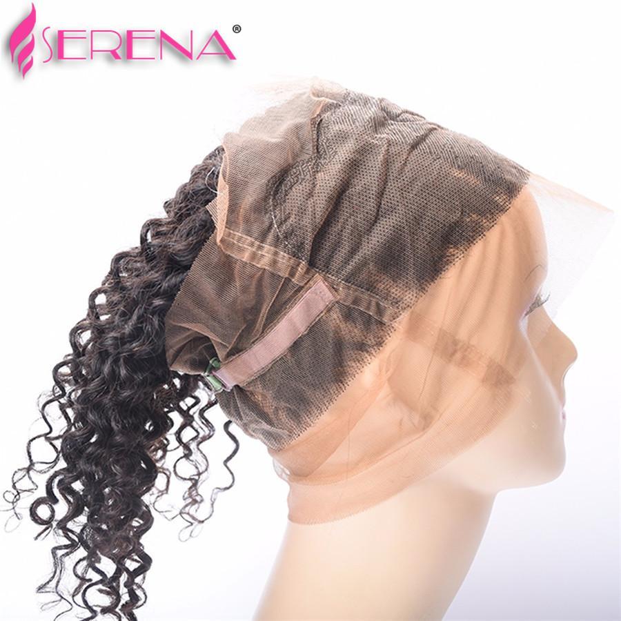 360 Кружева Фронтальная С Пучками Бразильские Девственные Волосы Волна Воды С Закрытием Влажные И Волнистые Человеческие Волосы 360 Фронтальная С Пучками