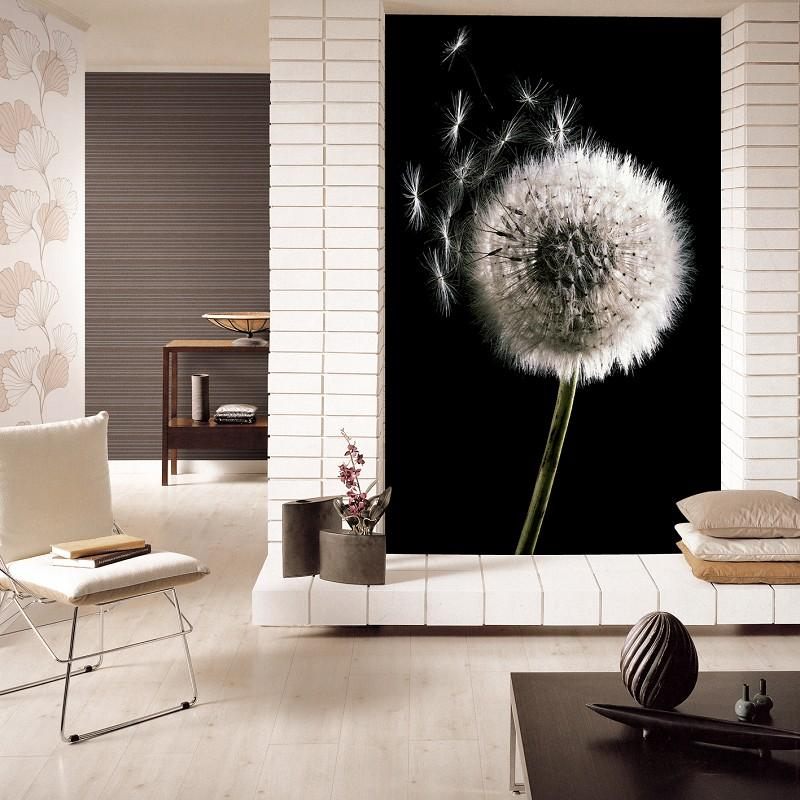 Modern Fashion Black And White Dandelion Abstract Art Customized 3d Background Wallpaper Dream Dancingly Mural Waterproof Home Decor Easter