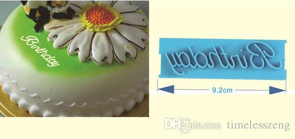 Stampi font cake artistici fai-da-te Script message pattern press set Scrittori font artistici stampi decorativi torta