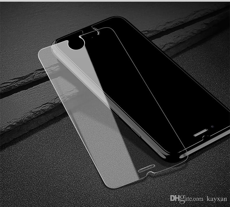 Tempered Glass Protective Film Screen Protector For iPhone 8 7 6S Plus 5S 2.5D 0.3mm Scratch-proof Cellphone Front Screen Glass Film