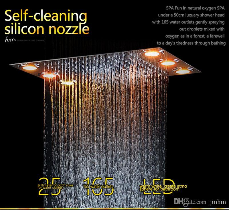 Bathroom Fittings Digital Smart Shower LED Shower Faucets Set Ceiling Rain Shower Heads Thermostatic Mixer Bath