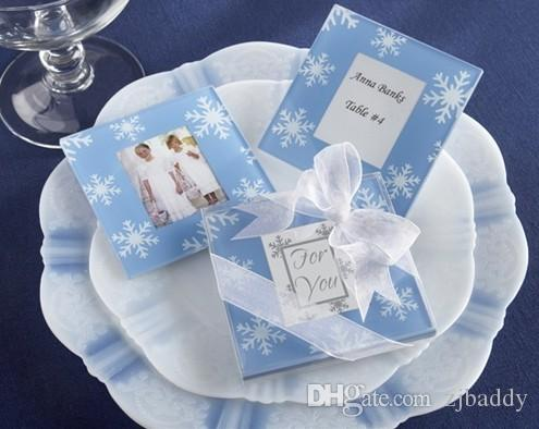Wedding gifts for guests party favors Glass Coaster Tablemat Cup Mat Pad Various model option  wholesale