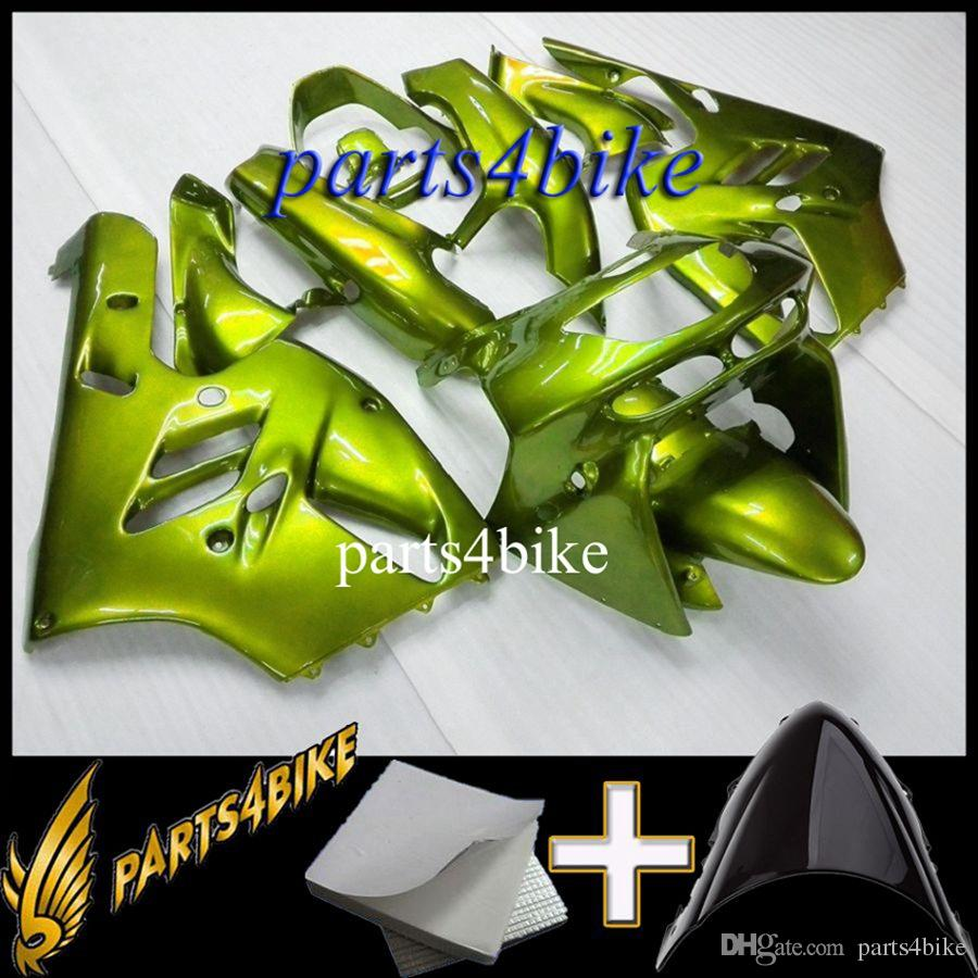 Aftermarket Plastic Fairing for Kawasaki ZX9R 94 97 ZX-9R 1994-1997 94 95 96 97 green Body Kit motorcycle panels