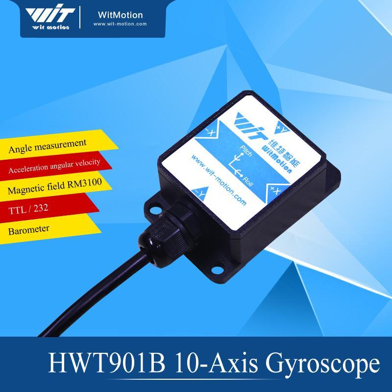 Wholesale- 10 Axis Attitude Sensor Accelerometer BMI160 Gyroscope Magnetic  Field RM3100 Air Pressure Kalman Filter HWT901B