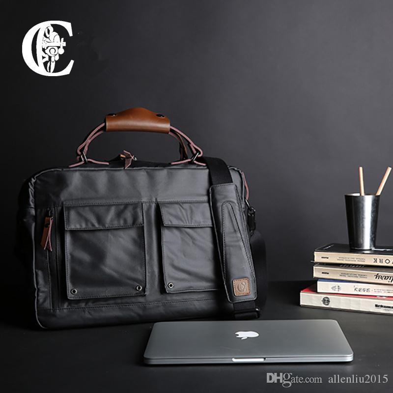 2017 Business Casual Men Bag Trend Crazy Horse Leather Accessories