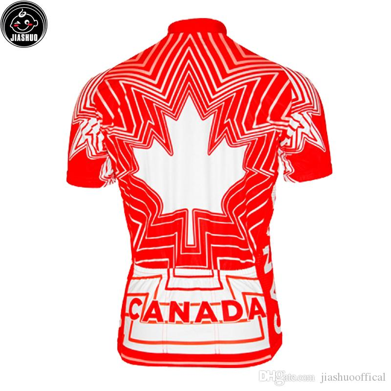 Classical Red Canada leaf NEW mtb road RACING Team Bike Pro Cycling Jersey / Shirts & Tops Clothing Breathing Air JIASHUO