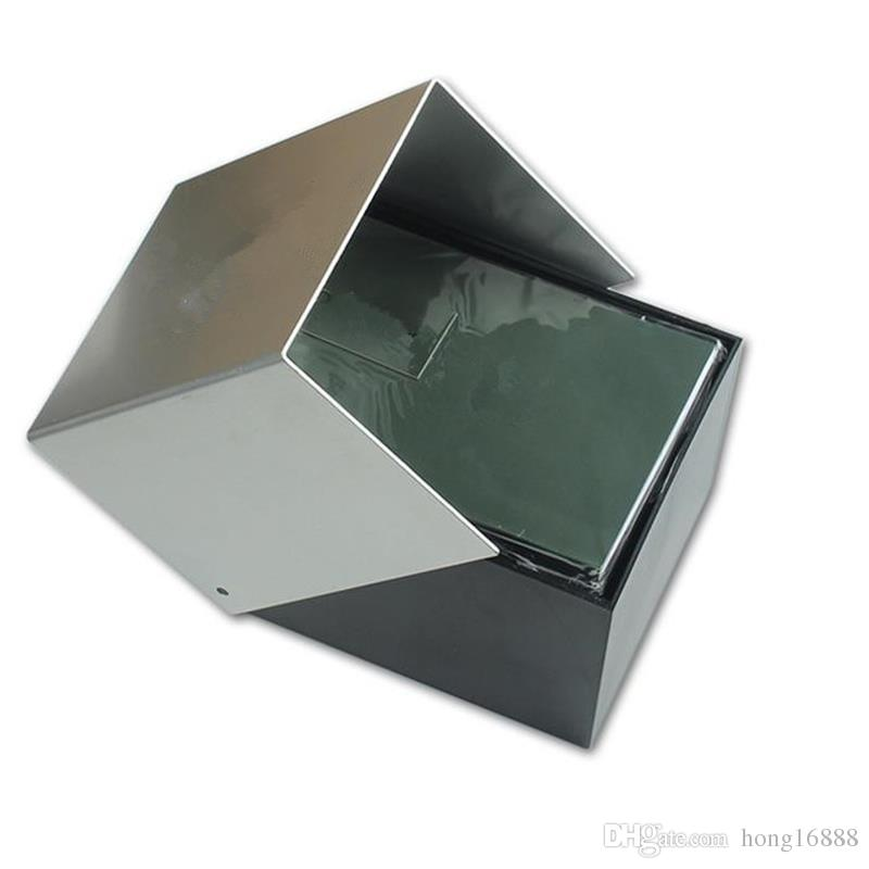 Boîte à montres en forme de boîte à montres de luxe, boîte de montres + instructions en anglais + sac cadeau, livraison gratuite en gros