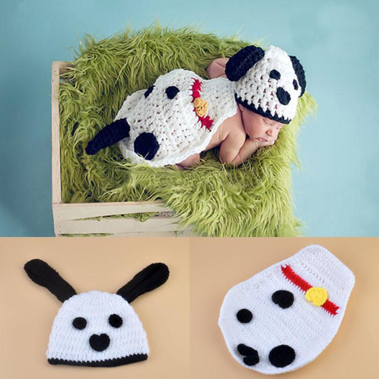 8a5b977a1f7 Baby Costume Crochet Baby Cap Crochet Lovely White Dog Cap Photography  Props Design Baby Hat Newborn Photo Props Knitted BP067 Scary Costume  Animal ...