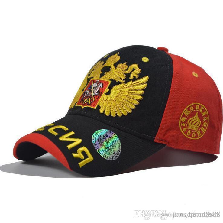 f0fbbcd3 High Quality Russian Baseball Caps Gold Double-headed Eagle Hat Cap ...