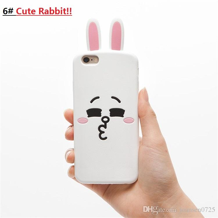 For iPhone 7 Cases Cute Cartoon 3D Bear Soft Silicone 2017 hot sale Back Cover Shell for iPhone 7 6S plus cell phone