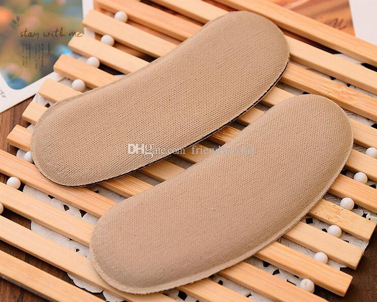 New Sticky Fabric Shoe Back Heel Inserts Insoles Pads Cushion Liner Grips