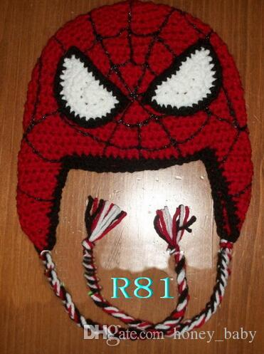 395c5963134 2019 Captain America Superman Spider Man Iron Man Batman Super Hero Crochet  Knitted Cap Infant Toddler Kid Hat Christmas Children Beanie Headgear From  ...