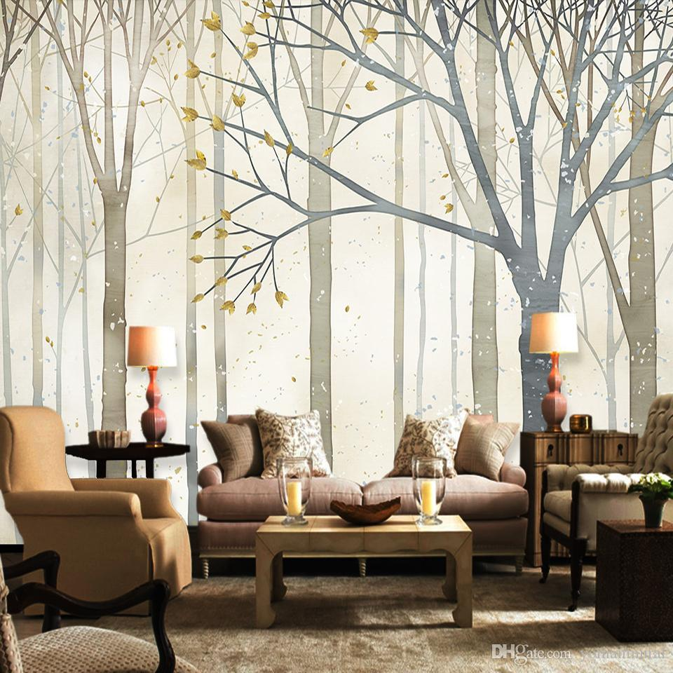 Custom Photo Wall Murals Abstract Nostalgic Woods Contact 3d Photo ...