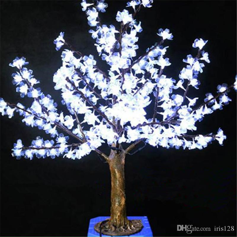 1m height outdoor artificial christmas tree led cherry blossom tree light leds straight tree trunk led light christmas outdoor decoration christmas outdoor - Christmas Tree Led Lights