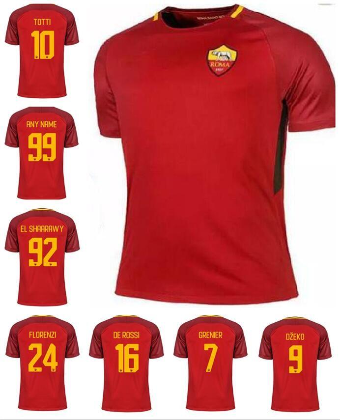 60de3ea3e 2017 2018 ROME soccer jersey 17 18 ROME TOTTI special DE ROSSI DZEKO EL  SHAARAWY home .