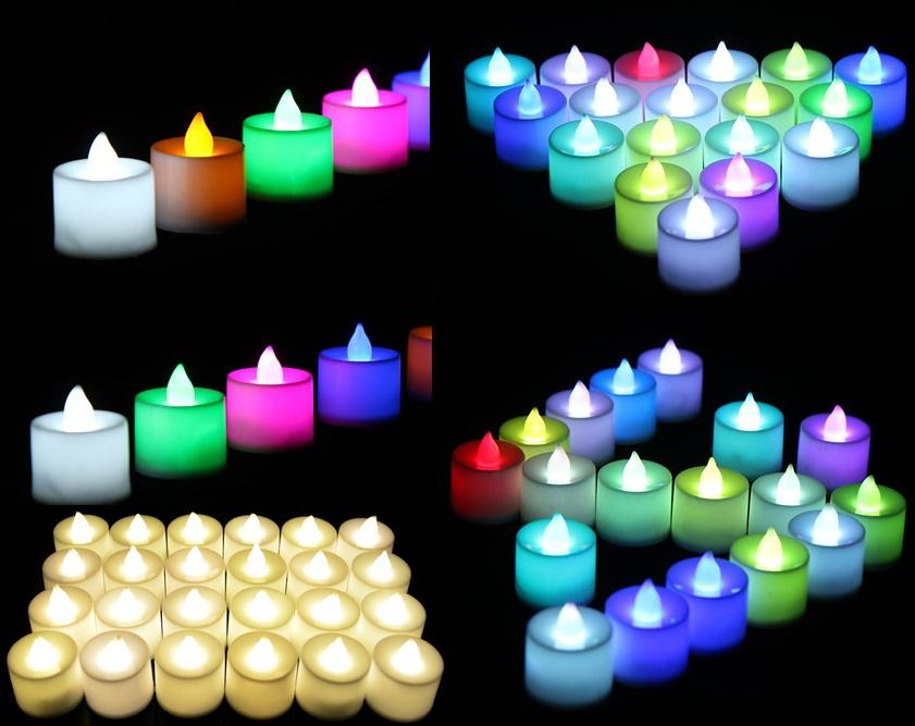 Manufacturers selling wedding favors LED electronic candles wedding props creative pendulum figure colorful candles for light DHL FREE