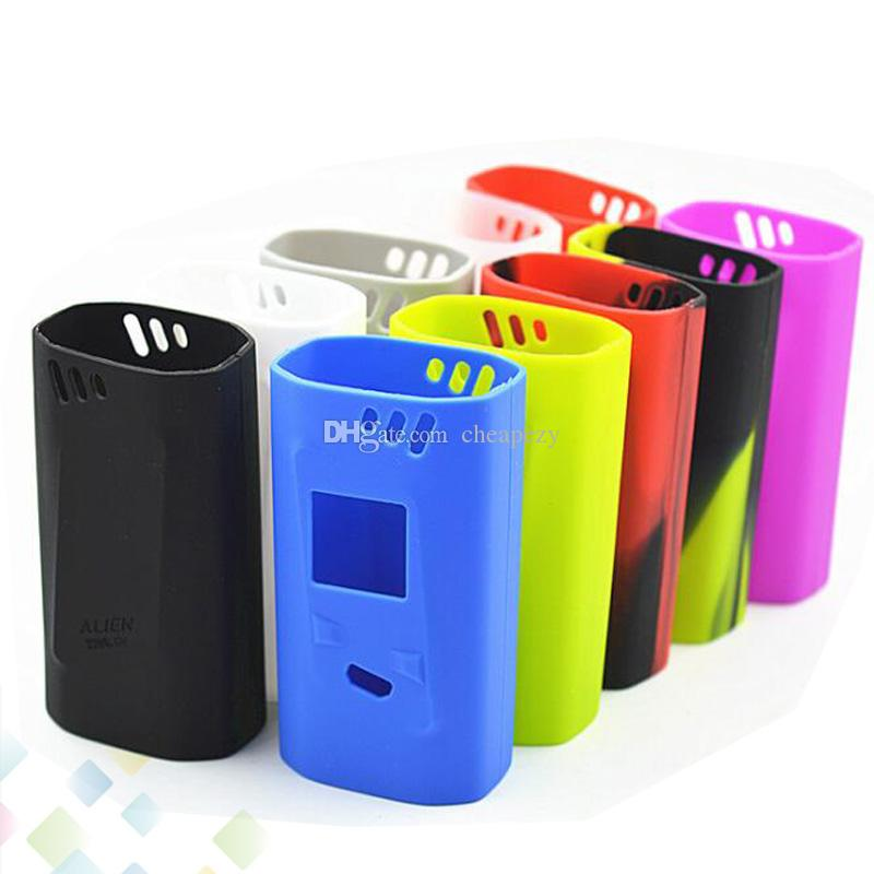 Alien 220W Box Mod Proect Case Soft Silicone Rubber Carry Bag Cover for Alien 220 TC Mods Protective Skin DHL Free