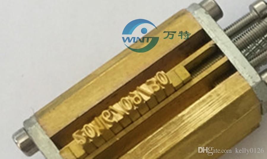 Freies Verschiffen 2 * 3 * 15mm Brief / Alphabet / Schrift für Datums-Kodierungsmaschine HP-241B / DY-8, Farbband-Kodierungsmaschine, Datumsdruckmaschine