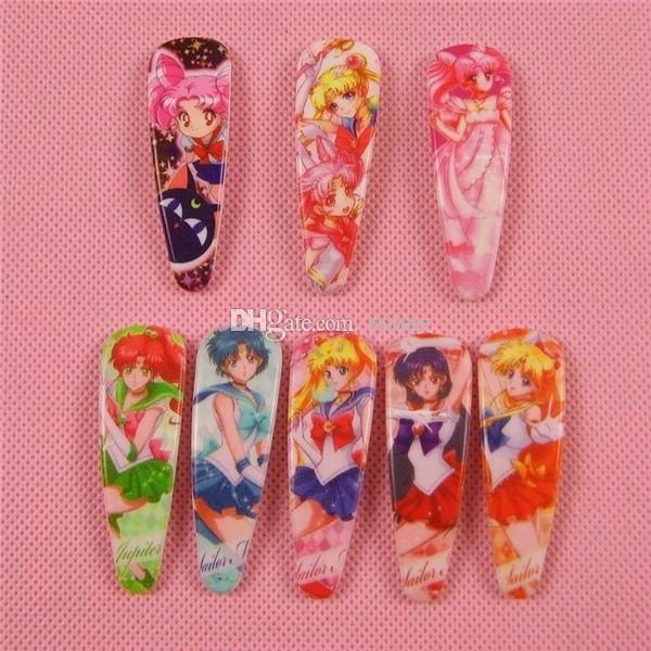 =Style Anime Sailor Moon Cartoon Hairpin Cute Baby BB Hair Clips Headwear Girls Rim Hair Ornaments accessories Kid Gifts