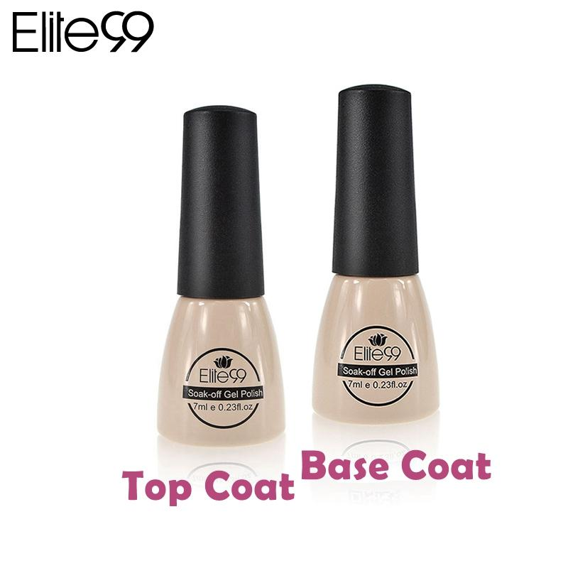 Al por mayor-Elite99 Gel Nail Primer Base Coat Foundation para UV Gel Polish Top Coat Top it off Topcoat para UV Curado UV Gel Laca de uñas