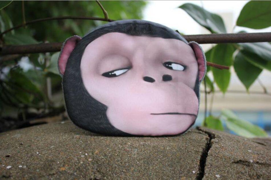 3D Animal Change Purse Monkey Gorilla Printed Coin Purse Kawaii Wallet Zipper Mini Handbag 5 Styles LJJO3324