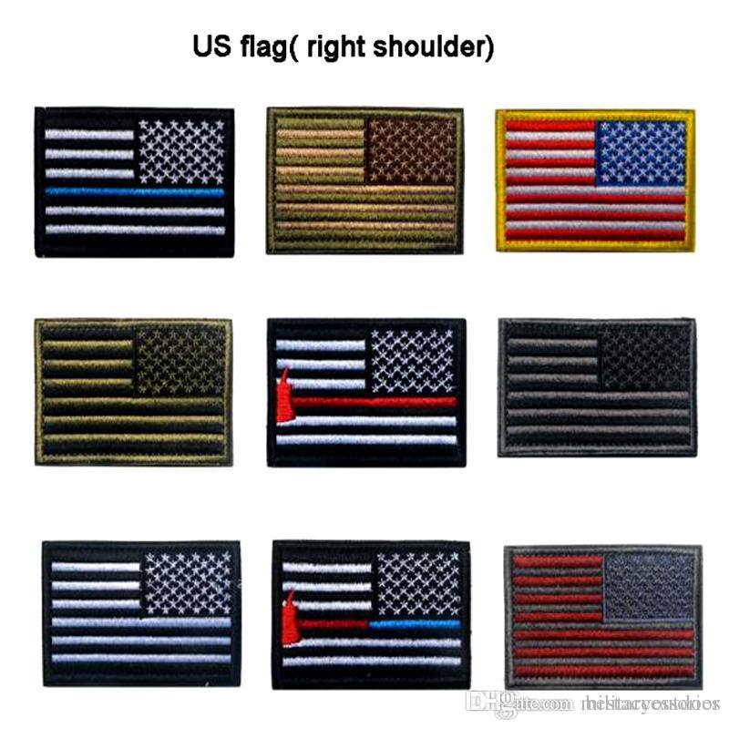 2019 VP 169 US Flag Morale Patches Gold Border American Flag Right Shoulder  Embroidery Patches Badges` Ironing Applique Army Patchfor Hat From ... 5b5e7bcb7