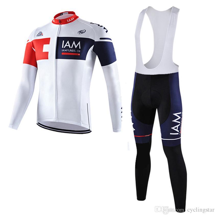 2017 ilkbahar / sonbahar uzun kollu iam takım erkek bisiklet forması bisiklet formaları mtb bisiklet clothing hızlı kuru ropa ciclismo hombre a0402